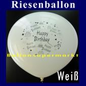 Riesenballon-Geburtstag-Happy-Birthday-Wei�-(Helium) (Riesenballon-Geburtstag-Happy-Birthday-GF-132-AH-Weiss)