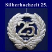 Silberne Hochzeit, 25 Jahre, Zahlendeko (Silberne Hochzeit Deko 01)