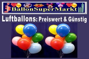 Luftballons günstig und preiswert zu Karneval und Fasching