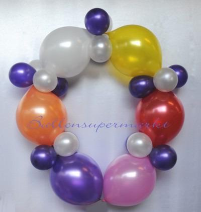Kettenballons, Kettenluftballons, Luftballons zum Verbinden und zum Bilden einer Kette - Luftballongirlande