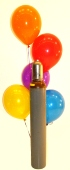 Maxi-Set 3A, 100 bunte Luftballons Kristall mit Helium (Farbauswahl) (BGS1MX6EF)
