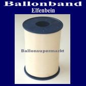 Ballonband, Luftballonbänder 1 Rolle 500 m, Elfenbein (Ballonband-Elfenbein-Rolle-Bb-Elfb-01)
