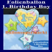 Folienballon-1. Birthday-Boy (Ohne Helium) (Folienballon-1.-Geburtstag-Boy-110016)