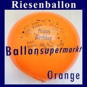 Riesenballon-Geburtstag-Happy-Birthday-Orange-(Helium) (Riesenballon-Geburtstag-Happy-Birthday-GF-132-AH-Orange)